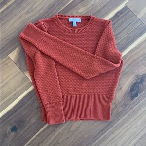 Cropped pumpkin Color sweater